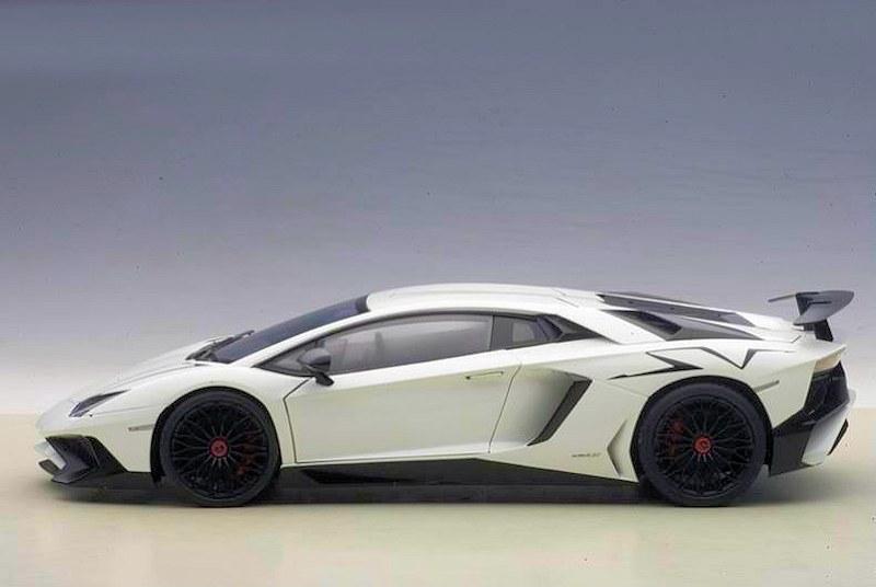 Autoart Lamborghini Aventador Lp750 4 Sv Matt White