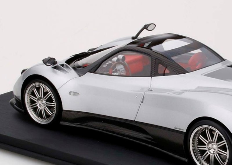 TopSpeed New Pagani Zonda F - Silver • DiecastSociety.com