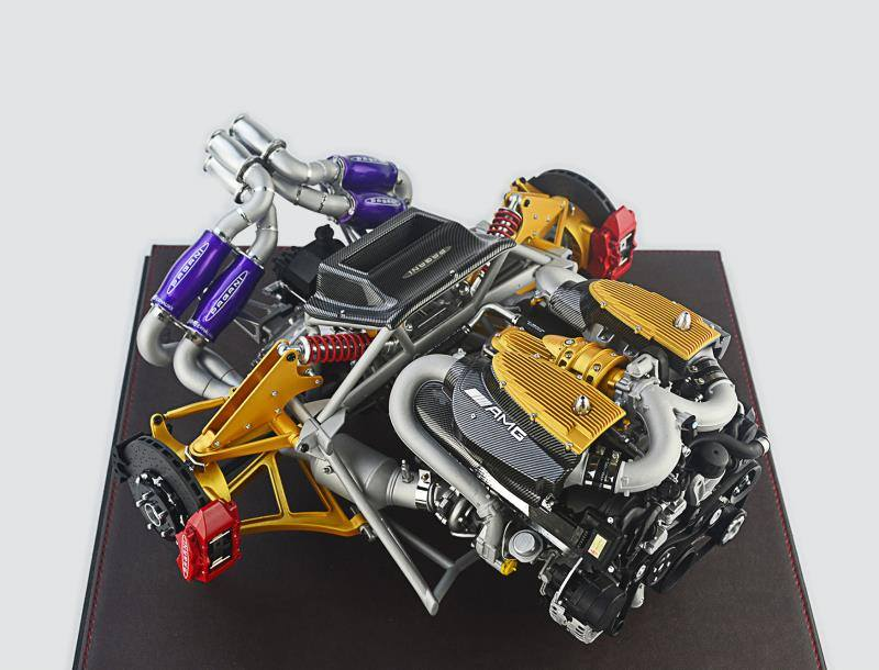 fronti-art official 1:6 pagani huayra engine • diecastsociety