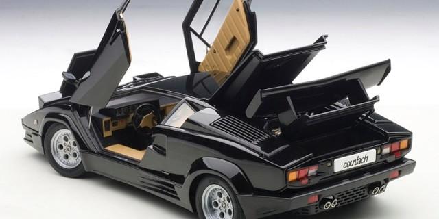 Autoart New Lamborghini Countach 25th Black White Diecastsociety Com