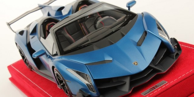 Mr New Lamborghini Veneno Roadster Matt Blue Diecastsociety Com