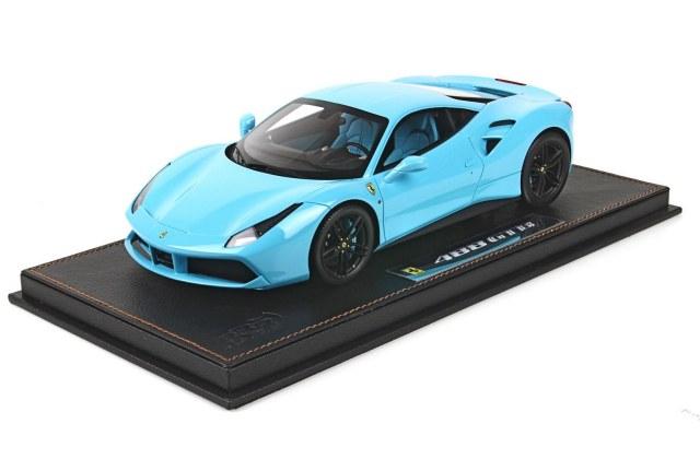 Bbr New Ferrari 488 Gtb Baby Blue Diecastsociety Com