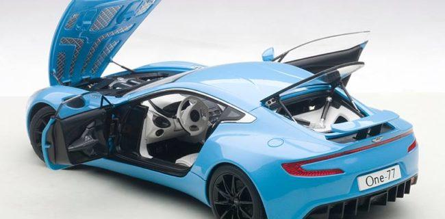 AUTOart Aston Martin One-77 - Tiffany Blue • DiecastSociety.com