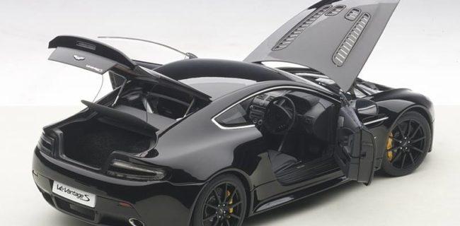 New Skin AUTOart Aston Martin V Vantage S Jet Black - Black aston martin