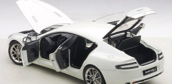 AUTOart New Aston Martin Rapide S Stratus White DiecastSocietycom - Aston martin rapid s