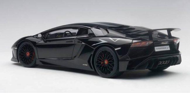 Autoart New Lamborghini Aventador Lp750 4 Sv Gloss Black