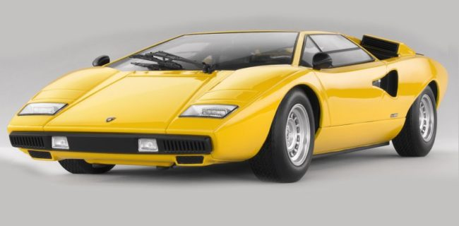Kyosho Ousia Lamborghini Countach Lp400 Yellow Diecastsociety Com