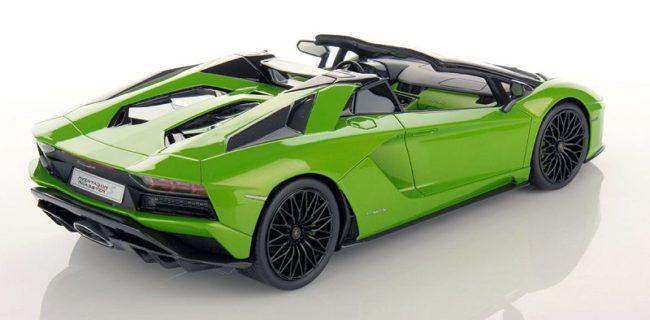 Mr Lamborghini Aventador S Roadster Verde Mantis Diecastsociety Com