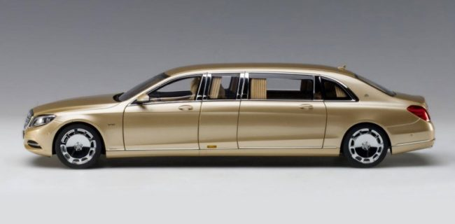 autoart mercedes maybach s 600 pullman - gold • diecastsociety
