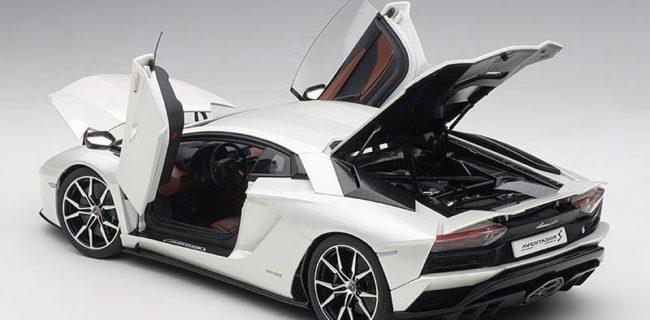 Autoart Lamborghini Aventador S Balloon White Pearl White