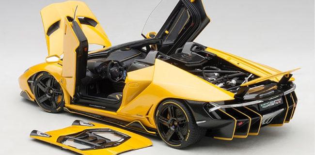 Autoart Lamborghini Centenario Roadster Pearl Yellow