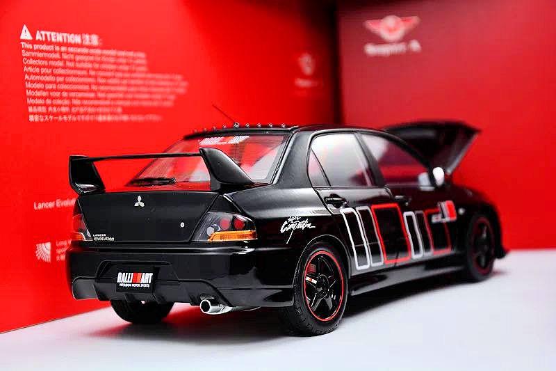 Super A Mitsubishi Lancer Evolution IX RallyArt Red 1//18