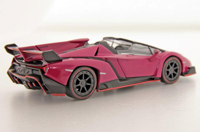 Kyosho KS07040A3 Lamborghini Veneno Roadster magenta Maßstab 1:64 NEU!°