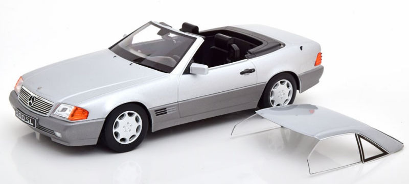 1:18 KK-scale mercedes 500 sl r129 convertible with hardtop 1993