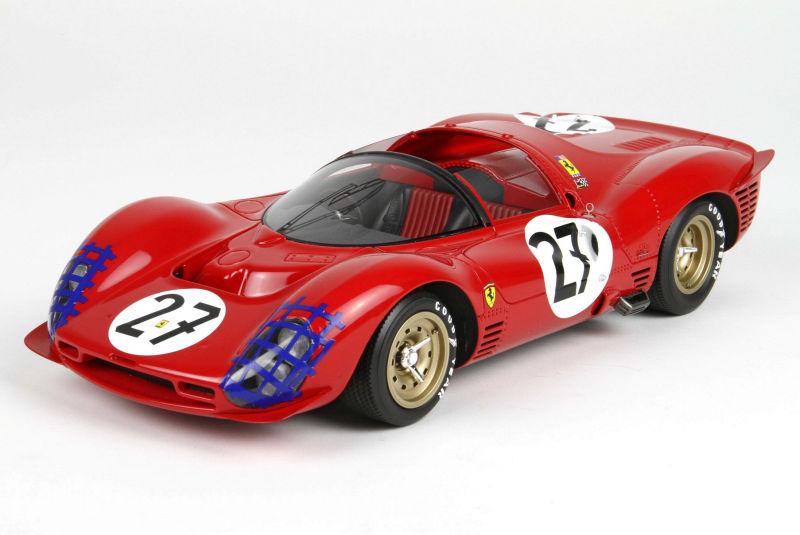 Bbr New Ferrari 330 P3 Spider 24h Le Mans 1966 Diecastsociety Com